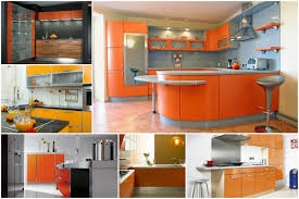 Orange And White Kitchen Ideas Colorful Kitchens Bright Colored Kitchen Cabinets Blue And White