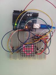 interfacing 8x8 led matrix with arduino circuit diagram code