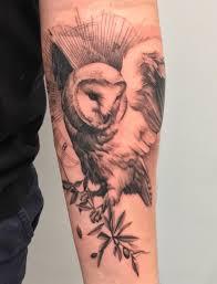 barn owl by oscar akermo ny japanese sleeve