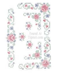 Side Designs Cross Stitch Designs Two Sets Tipnut Com