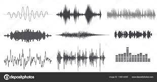 Sound Wave by Sound Wave Forms Vector Illustration Soundtrack Audio Music