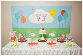 peppa pig decorations playful peppa pig party ideas