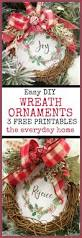 Christmas Decorations To Make At Home For Free Easy Diy Wreath Ornament The Everyday Home