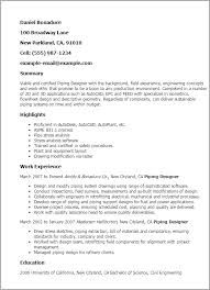 Industrial Maintenance Resume Examples by Professional Piping Designer Templates To Showcase Your Talent