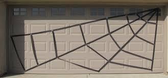 halloween garage spider web housemom activities