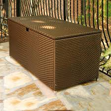 All Weather Wicker Shop Tortuga Outdoor 63 In L X 30 In W All Weather Wicker Deck Box