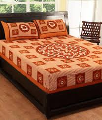Buy Cheap Double Bed Sheets Online India 100 Cotton Printed Double Bed Sheet With 2 Pillow Covers Buy