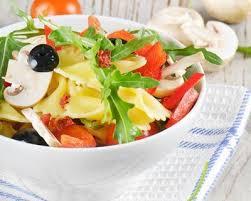 cuisine az minceur recette salade de pâtes minceur aux chignons tomates et poivrons