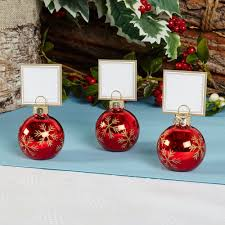 6 bauble place card holders or 10 place cards christmas table