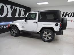 white jeep sahara 2 door 2018 jeep wrangler jk 4x4 2 door suv sahara new suv for sale near