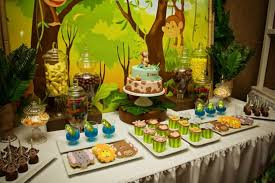 jungle themed baby shower 31 jungle theme baby shower table decoration ideas