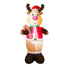 glitzhome lighted reindeer decor reviews wayfair