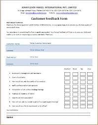 ms word printable customer feedback form template word u0026 excel