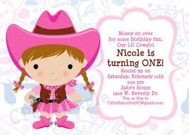 cowgirl birthday invitations wblqual com