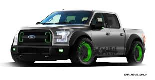 Ford Lightning New Ford Sema F 150 Concepts Are Raptor Thunder And Drifter Lightning