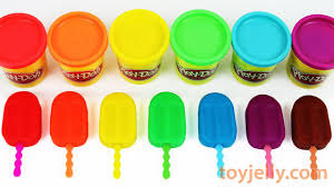 learn colors play doh popsicle colorful ice cream pocoyo disney