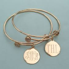 Monogram Disc Necklace Monogram Disc Adjustable Charm Bangle Bracelet I Love Jewelry