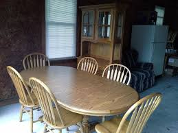 Cochrane Dining Room Furniture Best Cochrane Oak Table And 6 Chairs With China Hutch For Sale In