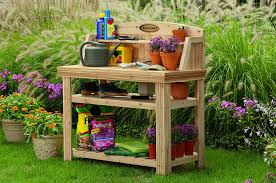 Merry Garden Potting Bench by Amazon Com Suncast Pt4500 Cedar Potting Bench Garden U0026 Outdoor