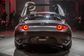 mazda mx5 2017 mazda mx 5 rf debuts in new york with a power targa roof