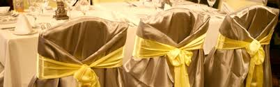 yellow chair covers linens baltimore s best events