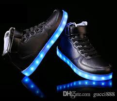 light up shoes for sale men women high top led shoes for adults white black glowing light up