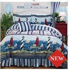 Nautical Twin Comforter Comforter Lighthouse Sailboat Nautical Twin Comforter Sham