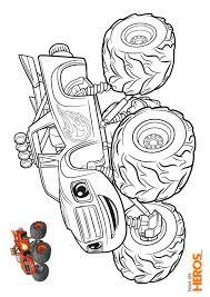 Coloriages Blaze et les Monster Machines à imprimer gratuitement