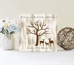 baby shower fingerprint tree sign guest book alternative