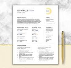 Resume Templates Printable Resume Template Cover Letter Template Cv By Documentfolder Cv