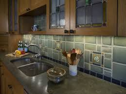 concrete countertops in the kitchen wth undermount sink with