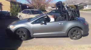 2009 mitsubishi eclipse spyder convertible youtube