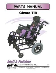 freedom designs gizmo tilt in space user manual 48 pages