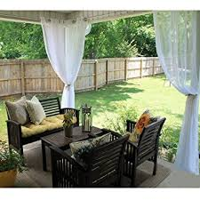 amazon com ryb home sheer curtains panels for patio window