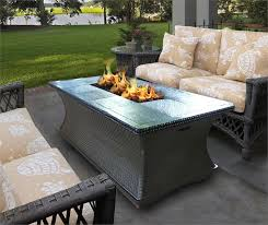 Diy Gas Fire Pit Table by Gas Fire Pit Table With Sofa Also Cushion And Outdoor Area
