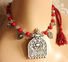 red necklace earring set images Red coral handmade gemstone necklace earring set at 3250 azilaa jpg
