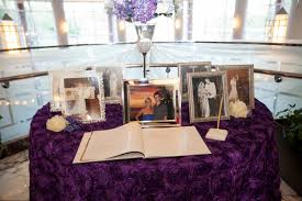 purple guest book purple guestbook table purple guest book table my wedding