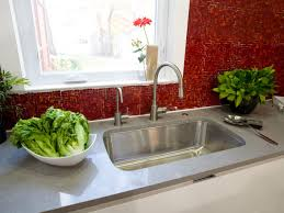 kitchen glass tile backsplash ideas pictures tips from hgtv red