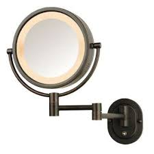 Magnifying Bathroom Mirror With Light Magnifying Bathroom Mirrors Bath The Home Depot