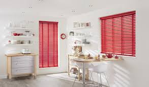 red blinds for kitchen window window treatments design ideas