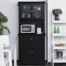 black kitchen pantry cupboard homcom free standing kitchen pantry traditional kitchen