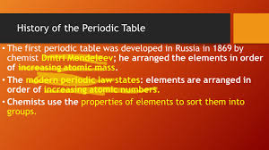 the development of the modern periodic table 100 modern priodic table 12 literary periodic tables of