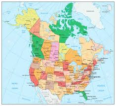 Us Political Map Map Of Us And Capital Cities North America Canada Usa And Mexico