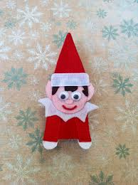 elf on a shelf christmas ribbon sculpture hair clip 6 50 via