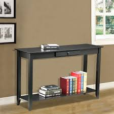 yaheetech 2 tiers concepts wood console table drawer and shelf