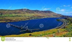 Map Oregon Washington State Stock by Bridge Across The Columbia River In Eastern Oregon Hdr Stock Photo