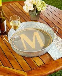 monogrammed serving trays use this monogram serving tray for entertaining indoors or out it