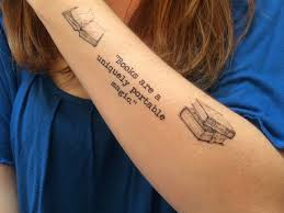 50 attractive literary tattoos for book