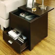 side table with laptop storage hidden storage side table developerpanda