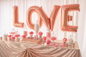 rose gold candy table coral and gold wedding lolly buffet styled by enchanted empire